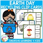 Earth Day Recycling Clip Cards ~Digital Download~