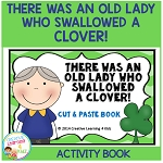 There Was an Old Lady Who Swallowed a Clover! Cut & Paste Activity Book ~Digital Download~