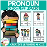 Pronoun Clip Cards: School ~Digital Download~