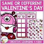 Valentine's Day Same & Different Sorting Board ~Digital Download~