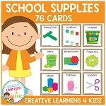 School Classroom Supply & Sensory Item Cards ~Digital Download~