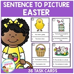 Sentence to Picture Match Task Cards Easter Set ~Digital Download~