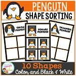 Shape Sorting Mats: Penguins ~Digital Download~