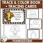 Trace & Color Thanksgiving Book + Tracing Cards