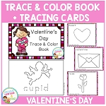 Trace & Color Valentine's Day Book + Tracing Cards Fine Motor Skills ~Digital Download~