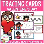 Tracing Cards Valentine's Day Set Fine Motor Skills ~Digital Download~