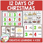 Twelve  Days of Christmas Matching Board + Song Flashcards + Puzzles  ~Digital Download~