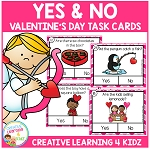 Valentine's Day Yes & No Question Task Cards ~Digital Download~