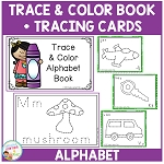 Trace & Color Alphabet Book + Tracing Cards Digital Download~