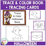 Trace & Color Halloween Book + Tracing Cards ~Digital Download~