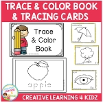 Trace & Color Book + Tracing Cards  ~Digital Download~