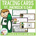 Tracing Cards St. Patrick's Day Set Fine Motor Skills ~Digital Download~