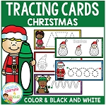 Tracing Cards Christmas Set Fine Motor Skills ~Digital Download~