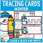 Tracing Cards Winter Set Fine Motor Skills ~Digital Download~