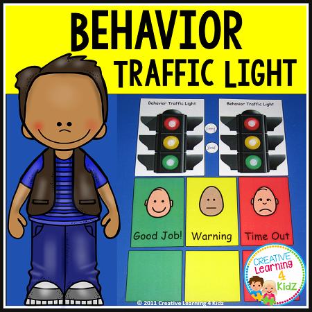 Behavior Traffic Light Chart Amp Card Set Digital Download
