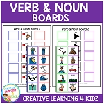 Verb & Noun Sentence Boards ~Digital Download~