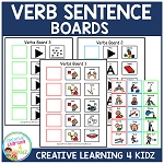 Verb Sentence Boards ~Digital Download~