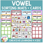 Vowels Short & Long Sorting Boards ~Digital Download~