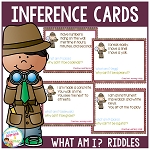 Inference What Am I?  Riddle Cards ~Digital Download~