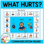 What Hurts Communication Board Visual  ~Digital Download~