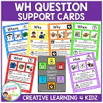 WH Question Support Cards ~Digital Download~