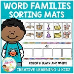 Word Family Sorting Mats ~Digital Download~