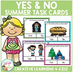 Yes & No Summer Picture Question Task Cards ~Digital Download~