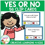 Yes or No Questions Task Cards ~Digital Download~