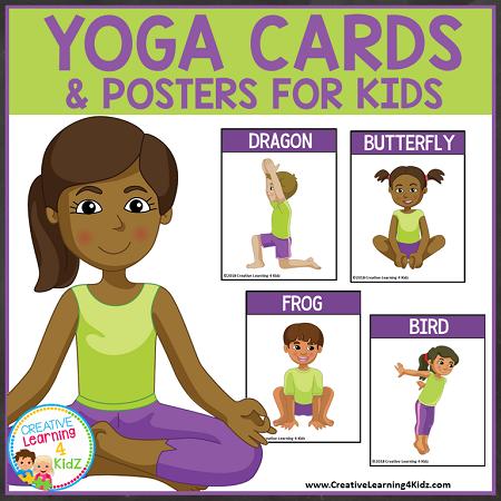 yoga cards  posters for kids digital download