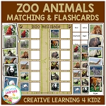 Zoo Animals Boards & Flashcards ~Digital Download~