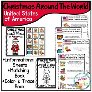 Christmas Around the World Books Set 2: United States ~Digital Download~