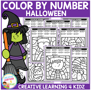 Color By Number: Halloween ~Digital Download~