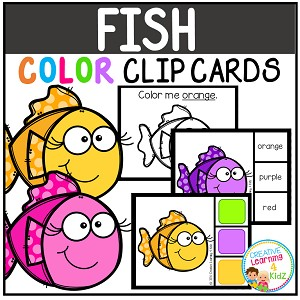 Color Clip Cards: Fish ~Digital Download~