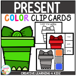 Color Clip Cards: Christmas Present ~Digital Download~