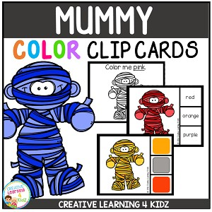 Color Clip Cards: Mummy ~Digital Download~