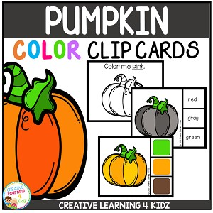 Color Clip Cards: Pumpkin ~Digital Download~