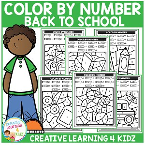 Color By Number: Back to School ~Digital Download~