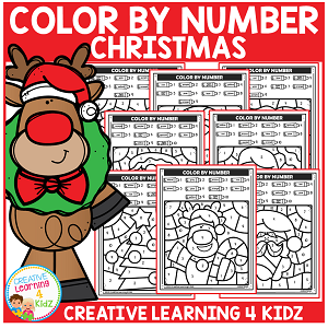 Color By Number: Christmas ~Digital Download~