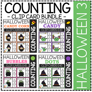 Counting Picture Clip Cards 0-10: Halloween 3 ~Digital Download~