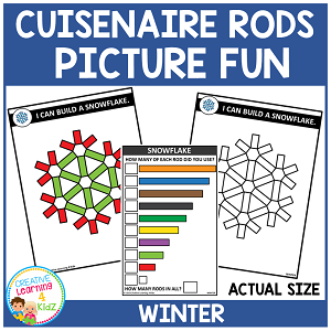 Cuisenaire Rods Picture Fun: Winter ~Digital Downloads~