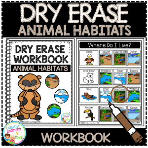 Dry Erase Workbook: Animal Habitats ~Digital Download~