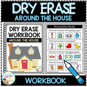 Dry Erase Workbook: Around the House ~Digital Download~