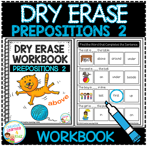 Dry Erase Workbook: Prepositions 2 ~Digital Download~