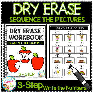Dry Erase Workbook: Sequence the Pictures ~Digital Download~