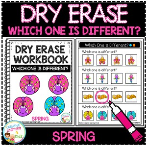 Dry Erase Workbook: Which One is Different - Spring ~Digital Download~