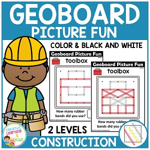 Geoboard Picture Fun: Construction ~Digital Download~