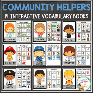 Interactive Vocabulary Books: Community Helpers ~Digital Download~