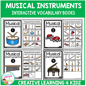Interactive Vocabulary Books: Musical Instruments ~Digital Download~