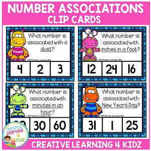 Number Associations Clip Cards ~Digital Download~