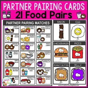 Partner Pairing Food Cards ~Digital Download~